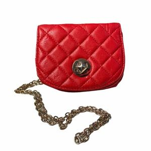 Discovery Red Quilted Crossbody Purse